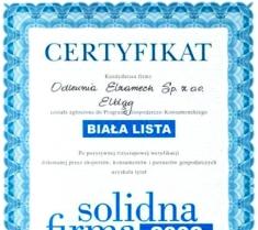 Certyfikat Solidna Firma 2002